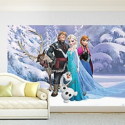 Disney - Blue Disney Frozen Digital Wall Mural