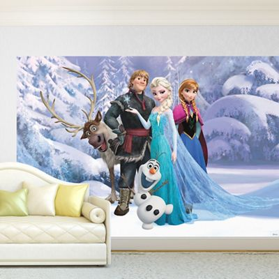 Disney   Blue Disney Frozen Digital Wall Mural Part 94