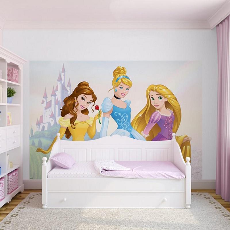 Disney princess photo mural large w 360cm x h 254cm for Disney princess mini mural