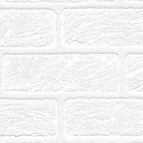Superfresco Paintables - White Brick Wallpaper