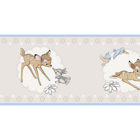 Disney - Beige Border Roll Bambi Wallpaper