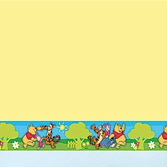 Disney - Winnie the Pooh Small Green Border Roll