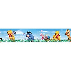 Disney - Blue Winnie the Pooh Small Border Roll