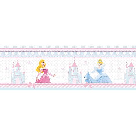 Graham & Brown Kids - Pink Border Princess Fairytail Wallpaper