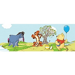 Disney - Multicoloured Border Pooh Bother Free Days Wallpaper