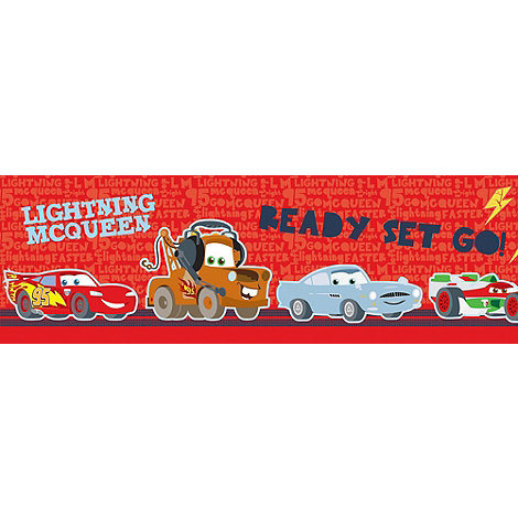 Graham & Brown Kids - Red Border Cars Junior Junction Wallpaper