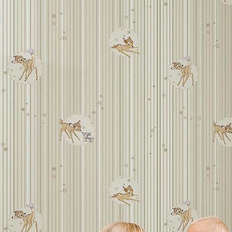 Disney - Beige Bambi Wallpaper