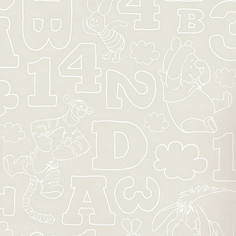 Graham & Brown Kids - Beige Pooh 123 Wallpaper