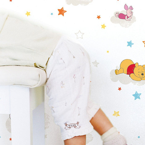 Graham & Brown Kids - Multicoloured Pooh Rise & Shine Wallpaper