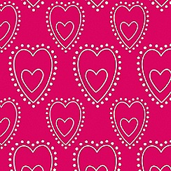 Graham & Brown Kids - Pink Princess Sorbet Love Wallpaper