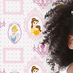 Disney - Pink Princess Royal Frames Wallpaper