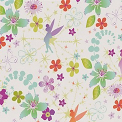 Disney - Multicoloured Tinkerbell Retro Wallpaper