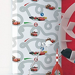 Disney - Red Cars Racetrack Wallpaper