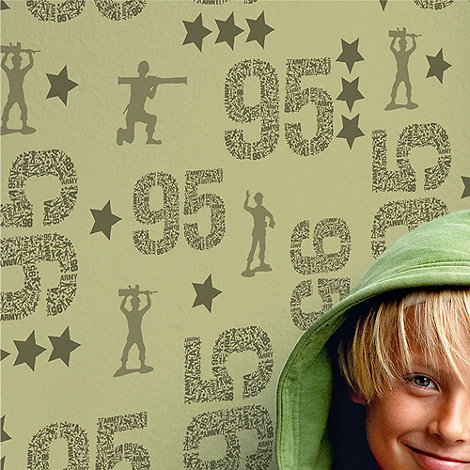 Graham & Brown Kids - Green Toy Story Camouflage Wallpaper