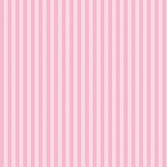 Graham & Brown Kids - Pink Classic Stripe Blossom Wallpaper