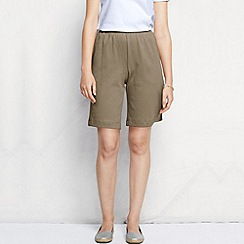 Lands' End - Beige women's regular sport knit shorts