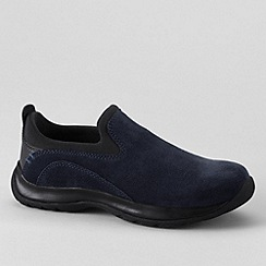 Lands' End - Blue women's suede moccasins