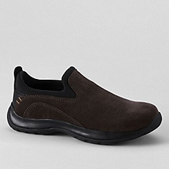 Lands' End - Brown women's suede moccasins