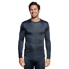 Lands' End - Black silk thermal crew neck