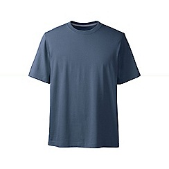 Lands' End - Blue men's short sleeve super/t traditional fit