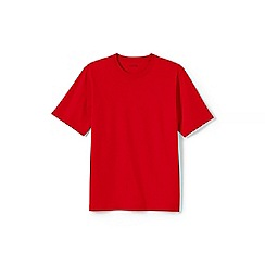 Lands' End - Red short sleeve super-t traditional fit