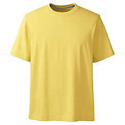 Lands' End - Yellow men's short sleeve super/t traditional fit