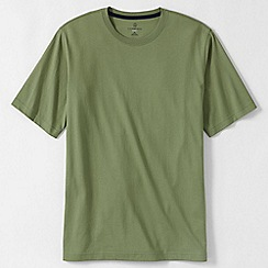 Lands' End - Green men's short sleeve super-t traditional fit