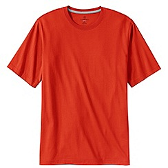 Lands' End - Orange men's short sleeve super-t traditional fit
