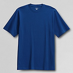 Lands' End - Blue men's short sleeve super-t traditional fit