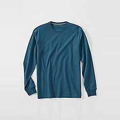 Lands' End - Blue men's long sleeve super-t traditional fit