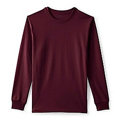 Lands' End - Red long sleeve super t-shirt traditional fit