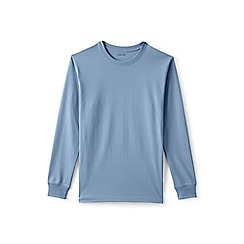 Lands' End - Blue long sleeve super t-shirt traditional fit