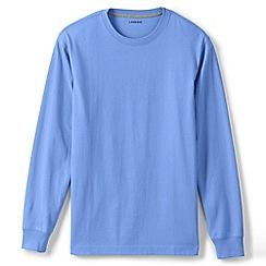 Lands' End - Blue long sleeve super-t traditional fit