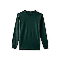 Lands' End - Green long sleeve super t-shirt traditional fit