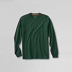 Lands' End - Green men's long sleeve super-t traditional fit
