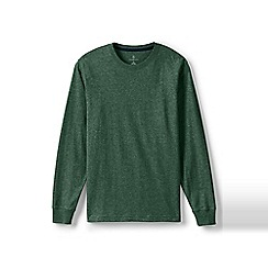 Lands' End - Green long sleeve super-t traditional fit