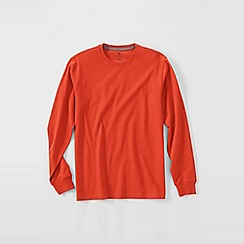 Lands' End - Orange men's long sleeve super-t traditional fit