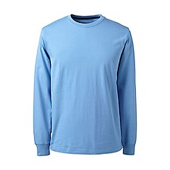 Lands' End - Light blue long sleeve super-t traditional fit