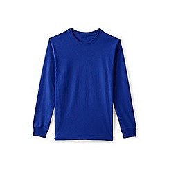 Lands' End - Blue long sleeve super-t traditional fit