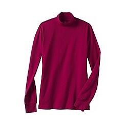 Lands' End - Pink regular long sleeve relaxed mock neck