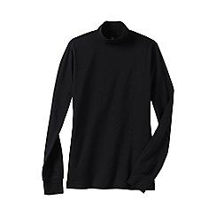 Lands' End - Black regular long sleeve relaxed mock neck