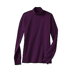 Lands' End - Purple women's regular long sleeve relaxed mock neck