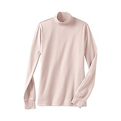 Lands' End - Pink long sleeve relaxed mock neck