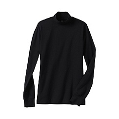 Lands' End - Black women's long sleeve relaxed mock neck