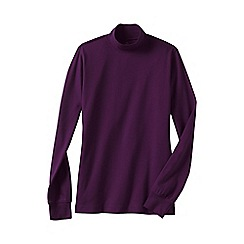 Lands' End - Purple women's long sleeve relaxed mock neck