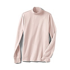 Lands' End - Pink long sleeve interlock mock