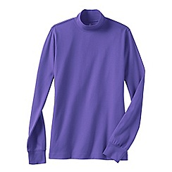 Lands' End - Purple women's long sleeve interlock mock