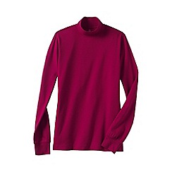 Lands' End - Pink petite long sleeve relaxed mock neck top