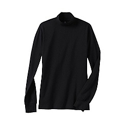 Lands' End - Black women's petite long sleeve relaxed mock neck top