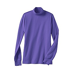 Lands' End - Purple women's petite long sleeve relaxed mock neck